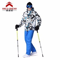 Professional Men Ski Suits Jackets + Pants Warm Winter Waterproof Skiing Snowboarding Clothing Set Brand