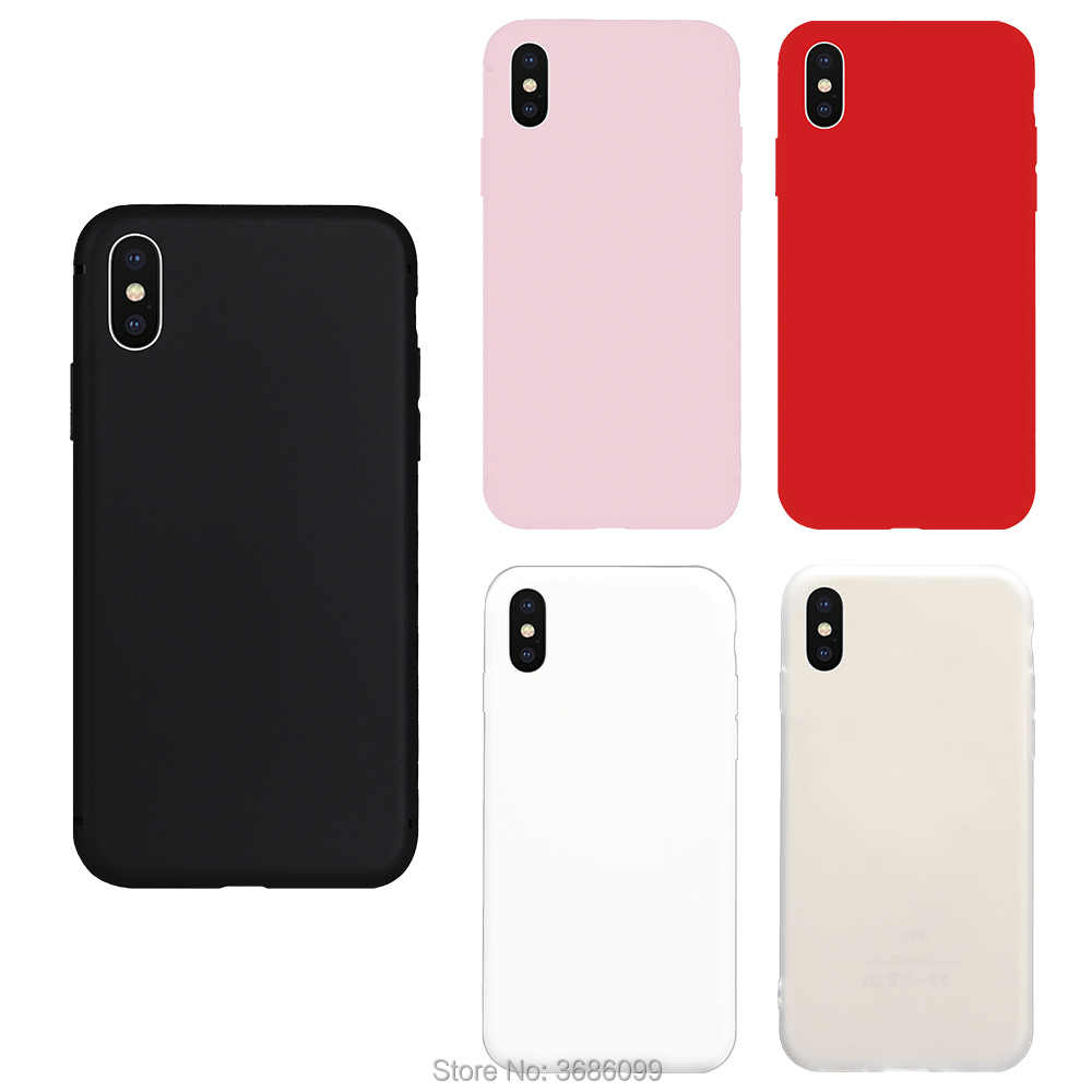 Nuevo Color puro caramelo lindo TPU funda suave para iPhone Phone X funda carcasa casco colorido genial