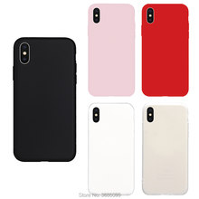 Brand NEW Pure Color Candy Cute TPU Soft Case for iPhone Phone X Cover Cases Coque Fundas Capas Shell Hull colorful cool(China)