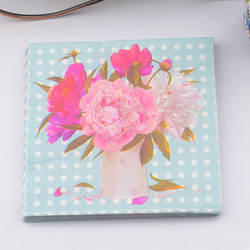 Новый 20 шт./лот синий цветок розы бумажные салфетки свадебные салфетки ужин бумажные салфетки Свадебная вечеринка поставки