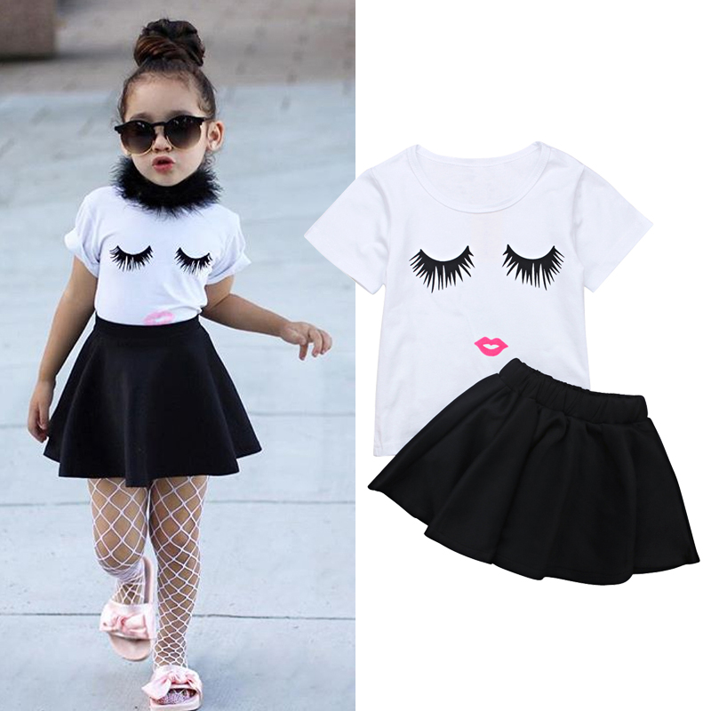 White Girl Fashion: 2018 Summer Little Girls Clothes New Fashion Eyebrows
