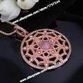 Thomas Round Lotus Pendant Necklace, European Bijoux Jewelry Gift For Women and Men TS-N98