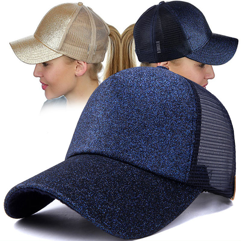 2018 Ponytail   Baseball     Cap   Women Messy Bun   Baseball   Hat Summer Mesh Trucker Hat Breathable Snapback Sport Casual   Baseball     Cap