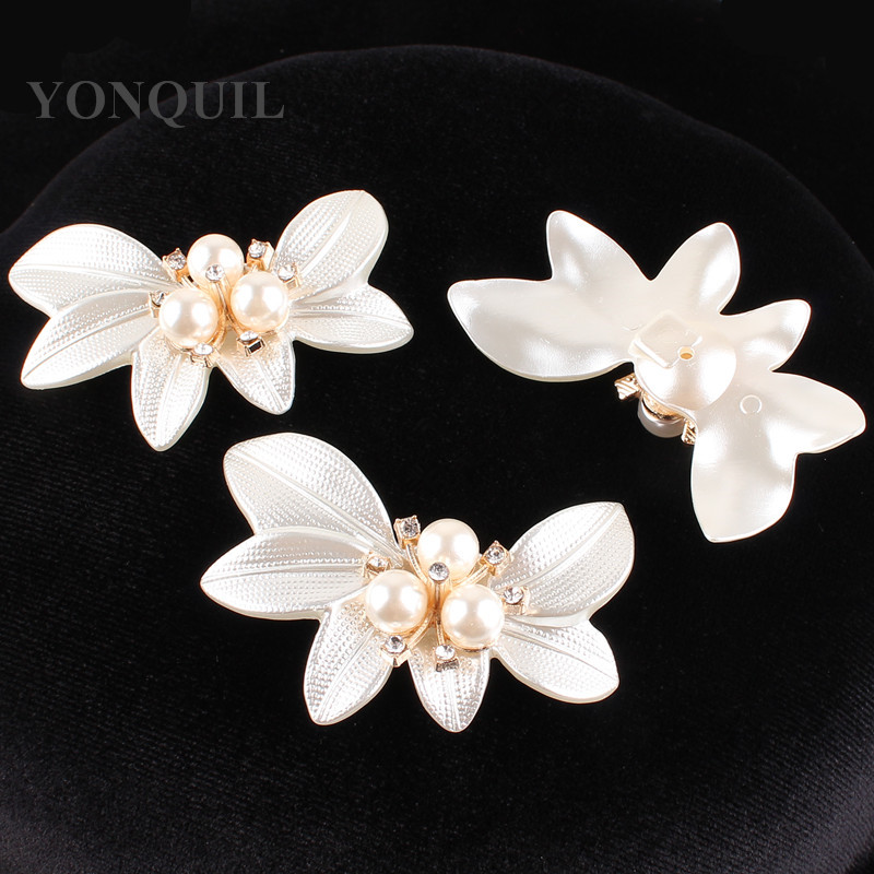 Big Crystal Flower Large shell Brooch Pins with peals Wedding Jewelry Bijouterie Corsage Dress Coat Accessories 12pcs/lot SYBB78