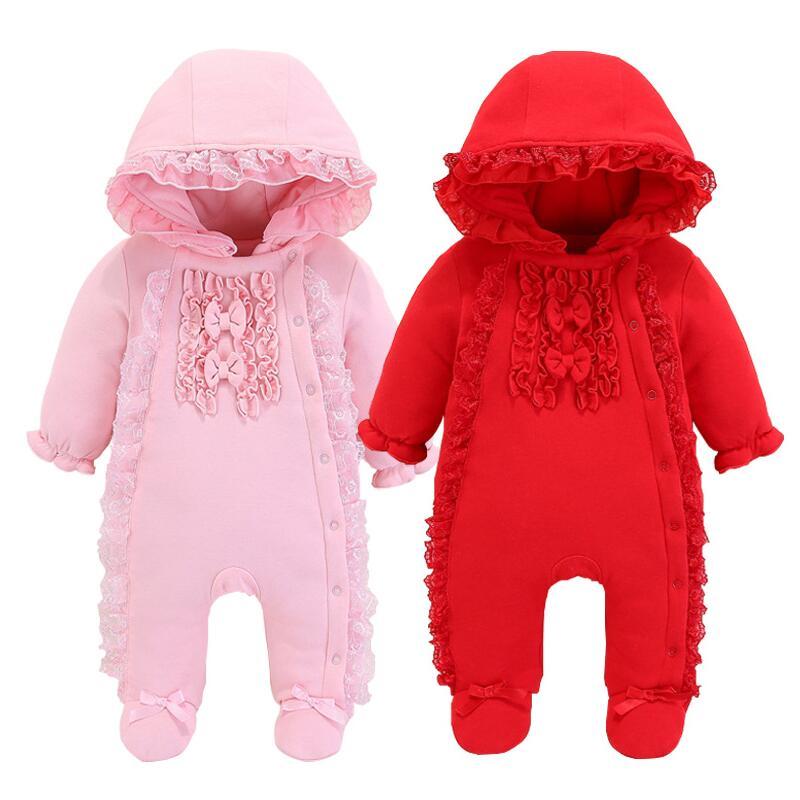 Aliexpress Com Newborn Full Moon Female Baby Winter Suit 0 1 Year