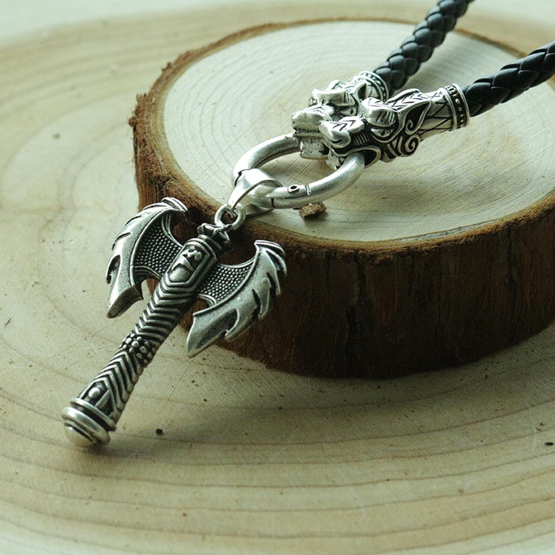 1pcs Ancient Greece viking Axe weapon pendant Minos amulet necklace ,it's signify Feminism women jewelry