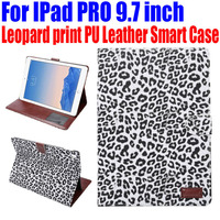 Smart Case For IPad PRO 9 7 Inch Fashion Leopard Print PU Leather Cover For IPad