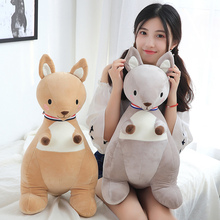65 Cm Soft Kangaroo Plush Toy Stuffed Animal Placating Toys Brand For Childrens Bed