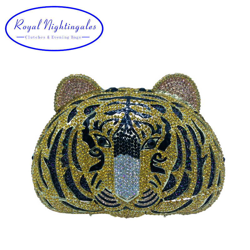 Hot Tiger Clutch Purse Small Animal Clutch Bags for Womens Wedding Prom Dinner Party Luxury Crystal Tiger Evening Purse for triumph tiger 800 tiger 1050 tiger explorer 1200 easy pull clutch cable system