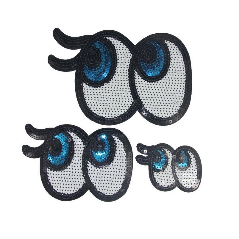 Moda hierro bordado en Parches para corte ropa ojo parche de ...