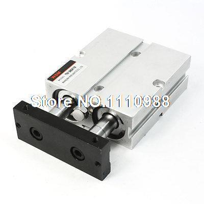 TN25x15 25mm Bore 15mm Stroke Twin Rod Compact Guide Air CylinderTN25x15 25mm Bore 15mm Stroke Twin Rod Compact Guide Air Cylinder