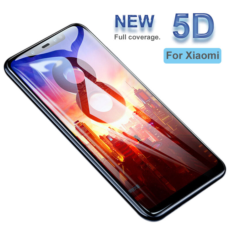 Cleiree Screen Protector Tempered Glass For Xiaomi 8 8 se 8 Lite MIX 3 For Redmi 6 6A  6 Pro Note 7 Full Cover Protector Film
