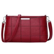 Роскошные Сумки Для женщин сумки дизайнер Для женщин клетчатая кожаная сумка сумки на ремне Crossbody сумки модные женские девочек Cluch