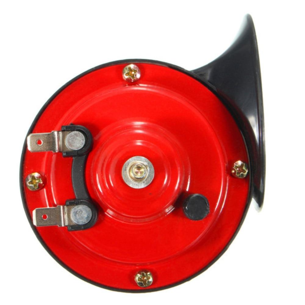 2pcs 12V 135DB 510HZ Dual Tone Snail Electric Air Horn Siren Universal Loud Car