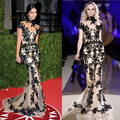 Camila Alves Oscar Select High-Quality With Black Lace Mermaid Celebrity Evening Dresses Red Carpet