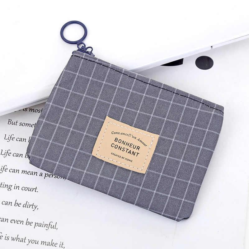 Heißer Verkauf Unisex Leinwand Geldbörse Männer Frauen Kinder Kleine Zipper Wallet Card Halter Schlüssel Taschen Münze Geld Taschen Headset lagerung Beutel