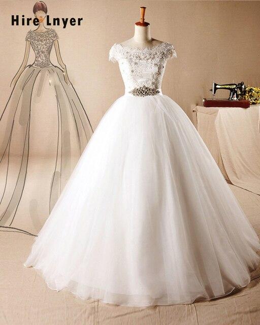 Najowpjg Custom Made China Bridal Gowns Beaded Crystal Waist ...