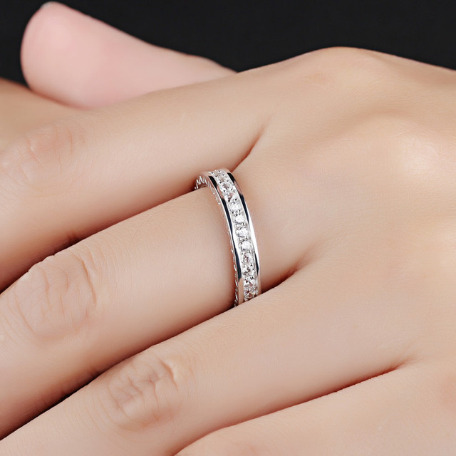 Cubic Zircon 925 Sterling Silver Rings for Women in Engagement Ring Silver 925 R
