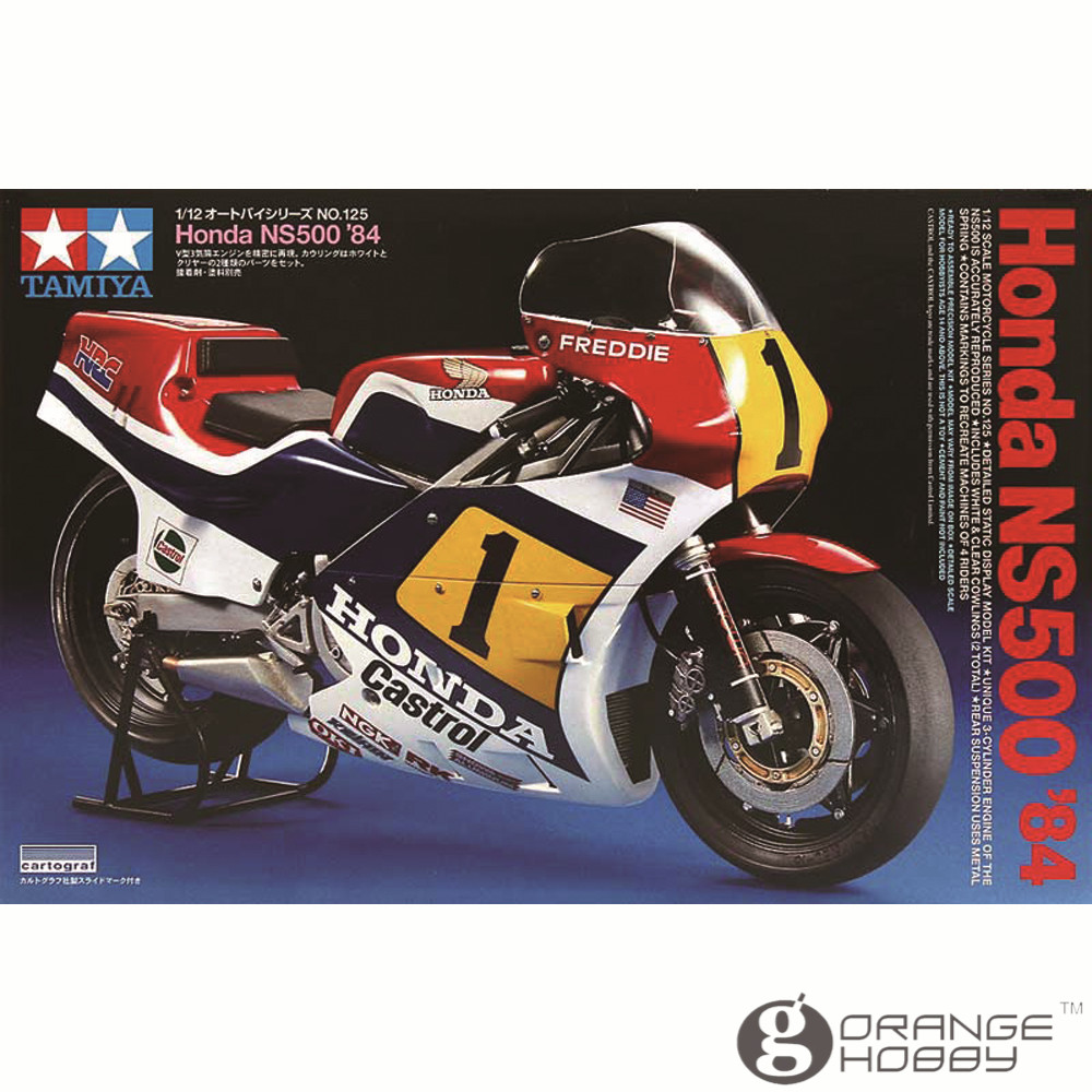 OHS Tamiya 14125 1/12 NS500'84 Scale Assembly Motorcycle Model Building Kits oh when tamiya model motorcycle ducati ducati 1199 1 12 panigle s 14129 model buiding kits
