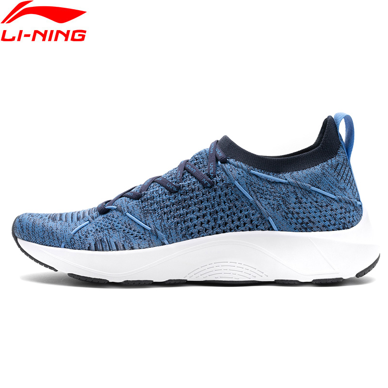 Li-Ning Men LN CLOUD LITE Cushion Running Shoes Sock-Like Breathable Mono Yarn LiNing Sport Shoes Sneakers ARHN103 XYP751
