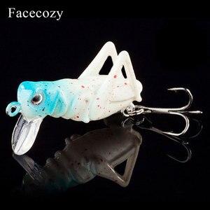 Image 5 - Facecozy imitasyon Locust yapay yem balıkçılık Lures 1 adet yüzer tip Swimbait Crankbait uygun birçok parmaklar