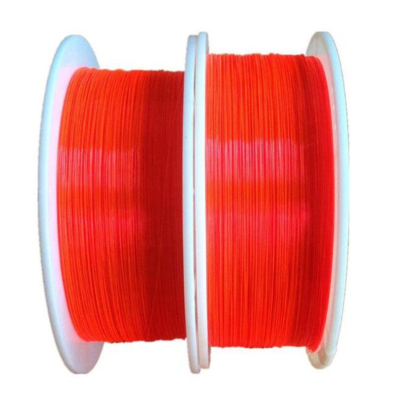 1.0mm Fluorescent fiber optic Cable Red Orange Green neon PMMA fiber optic for gun sight lightting decorations x 5M