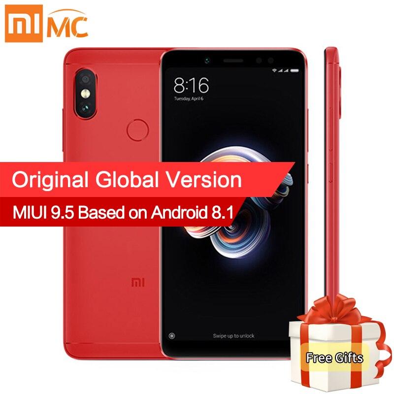 Mondial Version Xiaomi Redmi Note 5 4 gb 64 gb Android 8.1 Mobile Téléphone Snapdragon 636 Octa base 5.99 18:9 Plein Écran 4000 mah CE