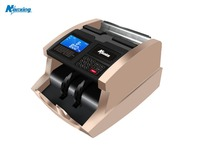 LCD Display Bill Counter Machine with Error code instructions for Multi Paper Currency Counting Machine banknote counter