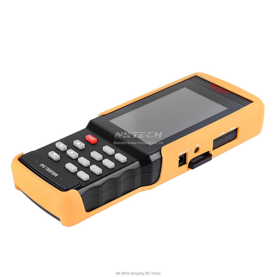 NKTECH IP Camera CCTV Tester NK-895S 2-IN-1 1080P HD Video Security Monitor Analog Network Cameras Test WiFi 4.3 PTZ RS485 CVBS