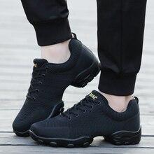 POLALI 2020 Mesh Jazz Schuhe herren Moderne Weiches Outsole Tanz Turnschuhe Atmungsaktiv Tanzen Fitness Training Schuhe