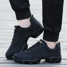POLALI 2020 Mesh caz ayakkabı erkek Modern yumuşak taban dans Sneakers nefes dans spor spor ayakkabıları