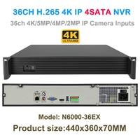 36CH 4K 5MP 3MP 2MP IP Camera Recorder H 265 Security HDMI VGA NVR 4SATA Onvif