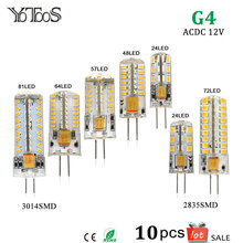 10pcs Lot G4 LED Lamp 12V AC DC Corn Light 1.5w 2w 3w 4w 360 Beam angle Warm White Led Bulb Lamps For Chandelier Crystal Lights