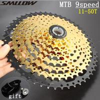 SUNSHINE 9 s 11 50T Gold Cassette 9 Speed Wide Ratio Golden Durable Freewheel for MTB Mountain Bike Bicycle