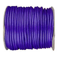 3.5mm Purple Korea Polyester Wax Cord Waxed Rope Thread+50yards/roll DIY Jewelry Findings Bracelet Necklace String Accessories
