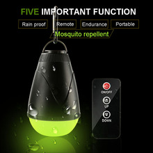 Mosquito Repellent Light Remote Control Camping Light 18650 USB Rechargeable Portable Emergency Night Fishing Tent Light Bulb