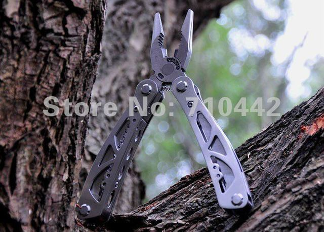 Free shipping 2pcs/lot  Big size Folding Multi Functional  Pliers with Screwdriver /knife/ Steel Filing For Work ,Hiking ,Camp