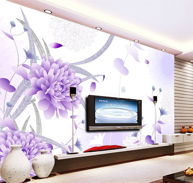 Custom 3D wallpaper, hand painted flower murals for the living room bedroom TV background wall waterproof vinyl papel de parede custom papel de parede para sala sheet music murals for bedroom living room tv wall vinyl waterproof which wallpaper