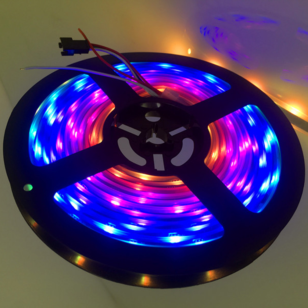 ICOCO New 5M 300LEDS WS2812B 5050 SMD RGB 5V Waterproof Black PCB Flexible LED Strip Light for TV Background Party Stripe Lamp new 5pcs 2pin 3pin 4pin led connector l t x shape fpc adapter free welding for 8mm 10mm 3528 2812 5050 rgb light strip
