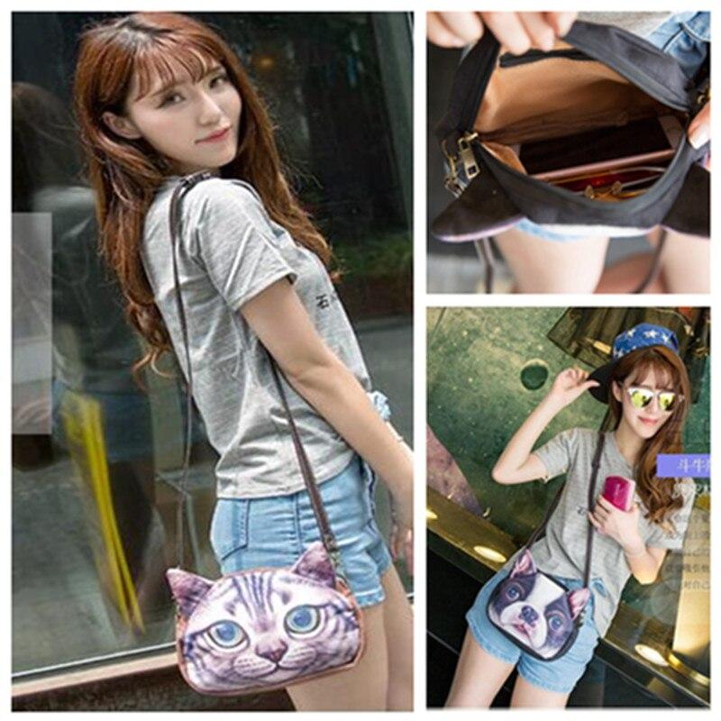 2017 New Lady Hand Bag Phone Bag Holding Bag Animals Meow Star People Dogs Cartoon Handbag, Bag Girl