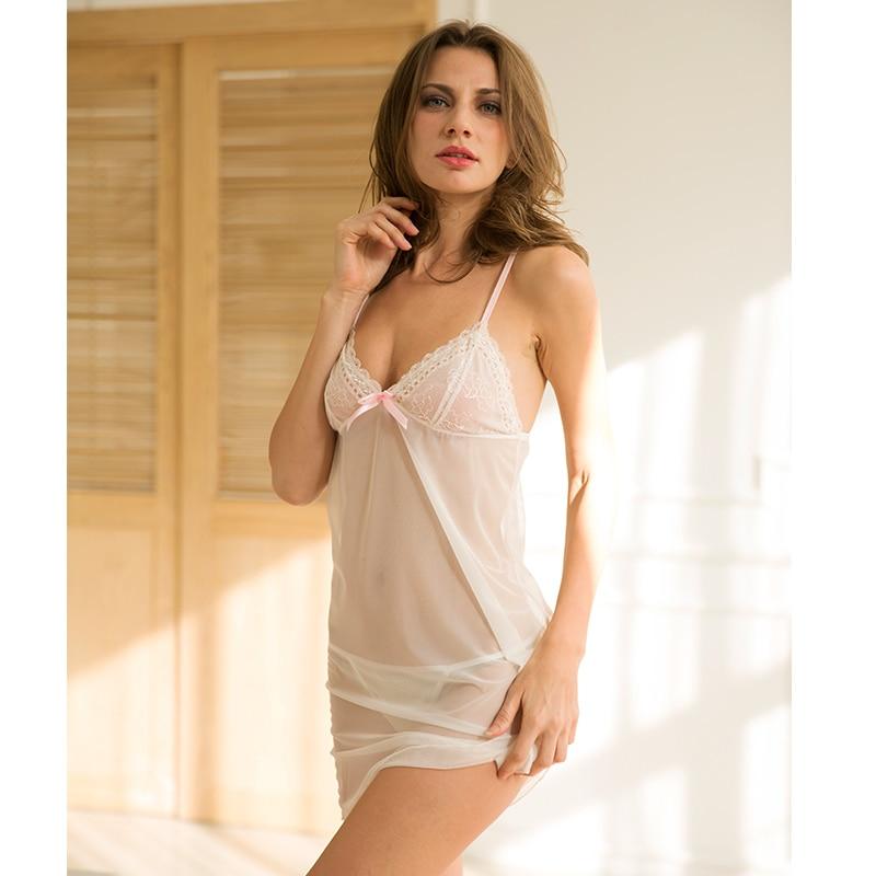 Sleepwear Women Sexy Lingerie Babydoll Hot Erotic Lace Nightgown Bowknot Transparent Sexy Nightdress Ladies Pajamas Women Sexy