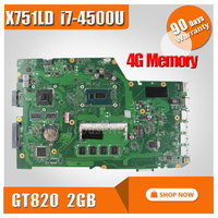 Original For ASUS X751LD X751L K751L K751LN REV 2 0 Laptop Motherboard USB3 0 DDR3 With