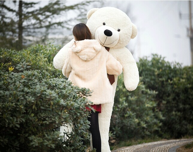 Stuffed animal 200cm white Teddy bear plush toy soft doll throw pillow gift w1694 stuffed animal 120 cm cute love rabbit plush toy pink or purple floral love rabbit soft doll gift w2226