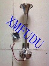 12 v Deniz Tekne Paslanmaz Çelik Tek Trompet Boynuz, düşük Ton, 16-1/8″
