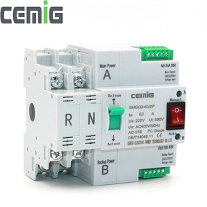 Image 1 - ATS Dual Power Automatic Transfer Switch Uninterrupted Power SMGQ2 63/2P AC 230V 16A to 63A Household 35mm Rail Installation