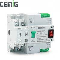 ATS double-puissance commutateur de transfert automatique SMGQ2-63/2 P disjoncteur MCB AC 230V 16A à 63A ménage 35mm Installation de Rail