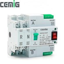 Atsデュアル電源自動転送スイッチ無停電電源SMGQ2 63/2 3p ac 230v 16Aに63A家庭用35ミリメートルレールインストール