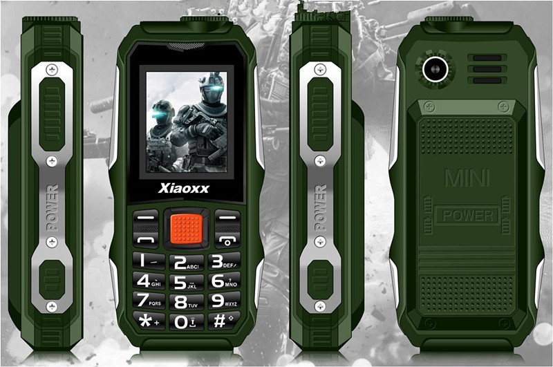 New Xiaoxx H700 Mobile phone as portable power source 2800mAH 3 colors in stock with Russian