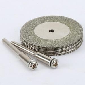 Image 4 - 10 pièces 35mm dremel accessoires pierre Jade verre diamant dremel disque de coupe ajustement outil rotatif Dremel forets outil avec deux mandrin
