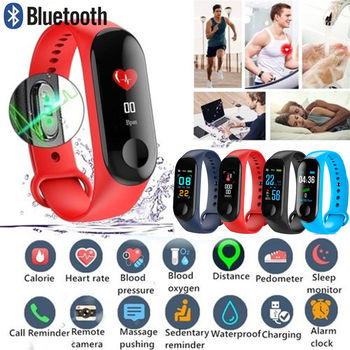 M3 Color Screen Smart watch Sport Fitness Bracelet IP68 Waterproof Blood Pressure Oxygen Activity Tracker For Men Women watches